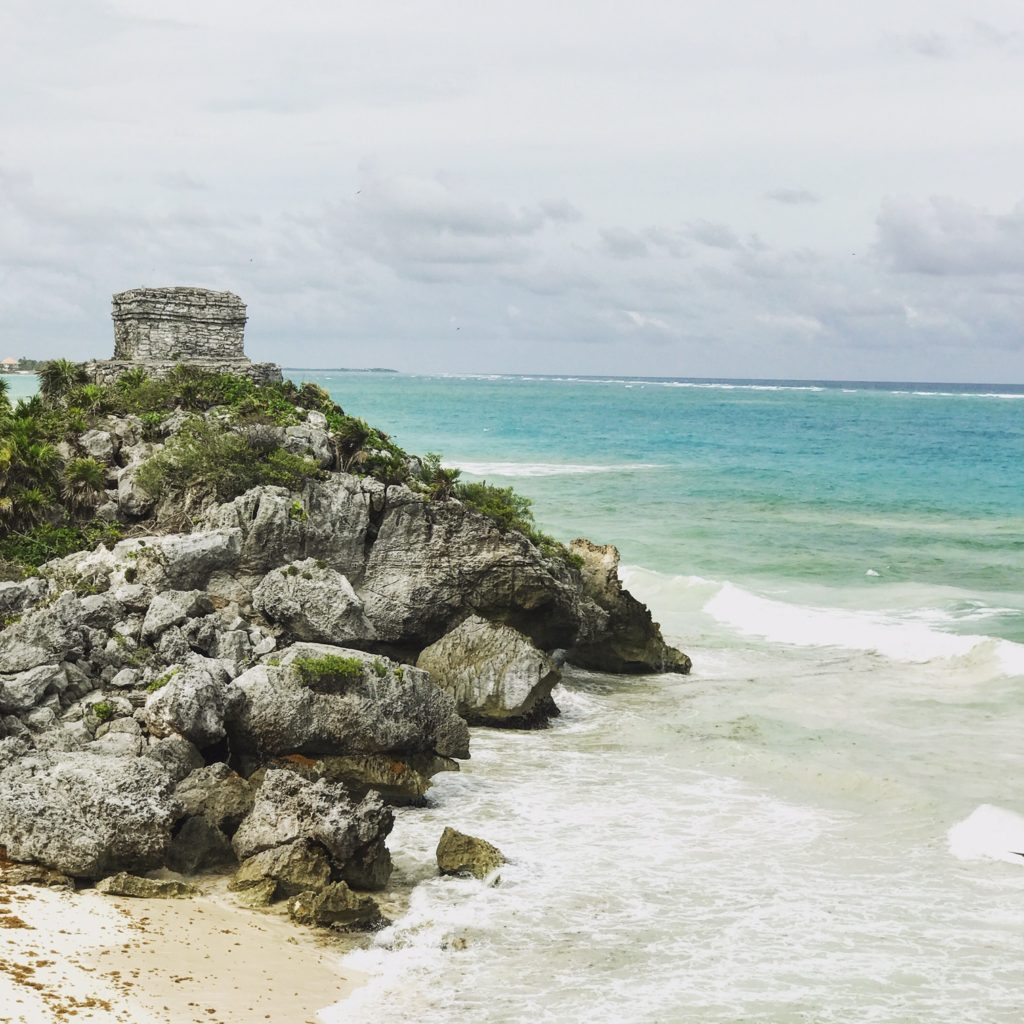 Coastal view of the Tulum Ruins