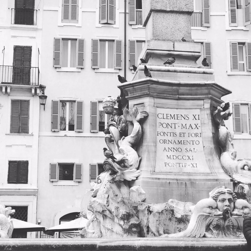 Fountain Outside of the Pantheon